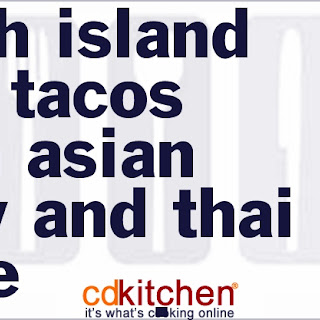 Fresh Island Fish Tacos with Asian Slaw and Thai-style Mayonnaise