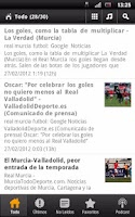 Screenshot of Real Murcia News