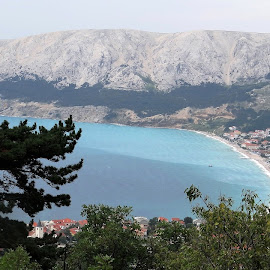 view of Baska on Krk Island by Dubravka Penzić - Landscapes Travel