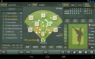 Screenshot of iScore Baseball/Softball