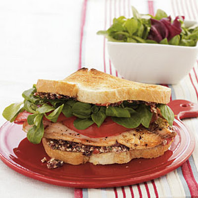 Tilapia Sandwich with Greek Tapenade