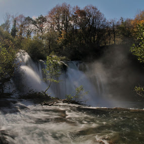 Turbulent river! by Jože Borišek - Landscapes Weather ( above the waterfall river une (bih) )