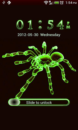 【免費個人化App】GO Locker Neon Green Spider-APP點子