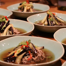 """Cold Soba Noodles with Spicy Aubergine"""