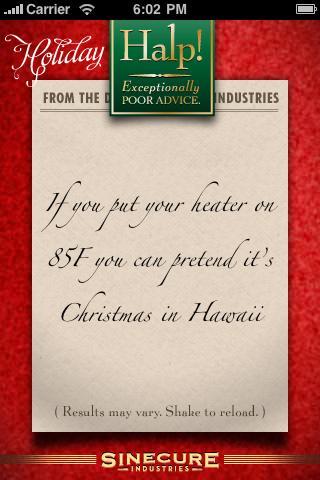 Holiday Advice