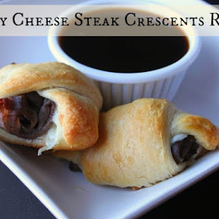 Philly Cheese Steak Crescents With Au Jus Recipe!