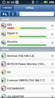 Screenshot of PA Server Monitor for Android