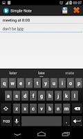 Screenshot of Simple Note