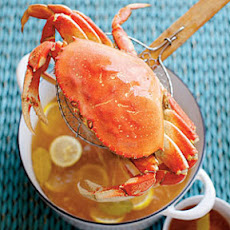 Simple Boiled Crabs with Garlic-Vermouth Butter