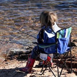 Just fishing by Marjorie Bazluki - Babies & Children Children Candids