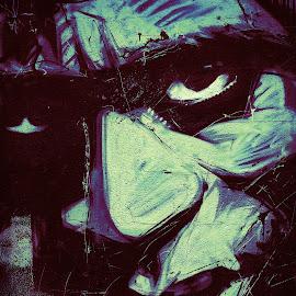Regardez-moi by Bruno Gueroult - Digital Art Things ( street art, art, regard, dessin, oeil )