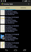Screenshot of Running Clyde GPS Track