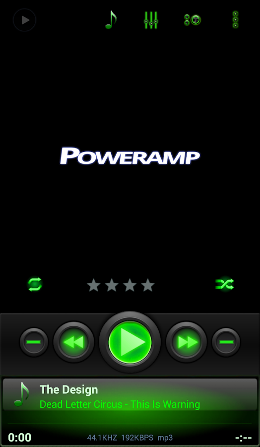 Mad Jelly Green Poweramp Skin Screenshot