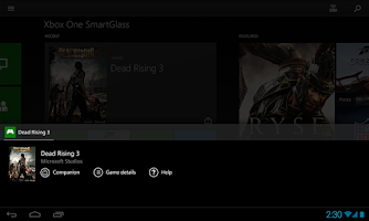 Screenshot of Xbox One SmartGlass Beta
