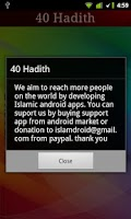 Screenshot of 40 Hadith + Widget