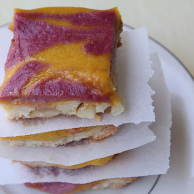 Mango Strawberry Macadamia Nut Shortbread Bars