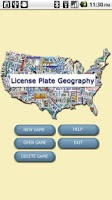 Screenshot of License Plate Geography