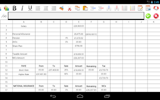 Screenshot of Droidsheet