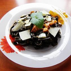 Squid Ink Pasta in Gorgonzola Sauce