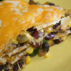 Black Bean Tortilla Pie