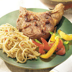 Asian Pork Chops With Thai Sesame Noodles