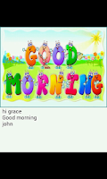 Screenshot of Good Morning Card