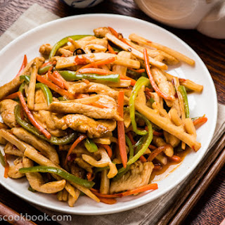 Yu-Xiang Rou-Si (Sichuan Shredded Chicken Stir-Fry, 鱼香肉丝)