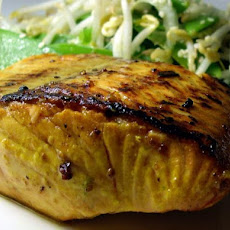 Lime Infused Atlantic Salmon With Asian Salad