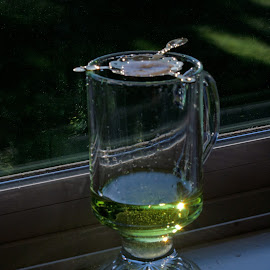 Absinthe and Sill by Waynette  Townsend - Food & Drink Alcohol & Drinks ( beverage, green, alcohol, absinthe, light,  )