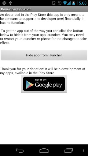Donation to the developer
