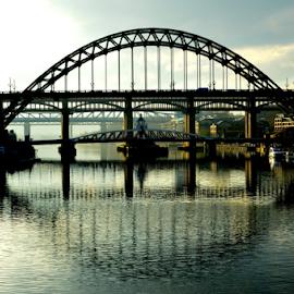 bridges by Paul Pirie - Buildings & Architecture Bridges & Suspended Structures ( water, shadow, bridge, city, river )