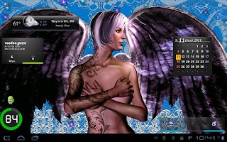 Screenshot of Tattooed Angel Live Wallpaper