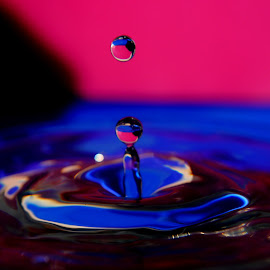 blue and pink by Anthony Doyle - Abstract Water Drops & Splashes (  )