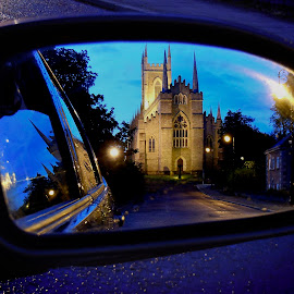 Night  by Jim Moran - Buildings & Architecture Places of Worship ( car, wing, damp, buried., summers.night, downpatrick, cathedral, st patrick, mirrow,  )