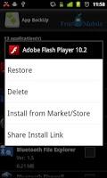 Screenshot of App BackUp