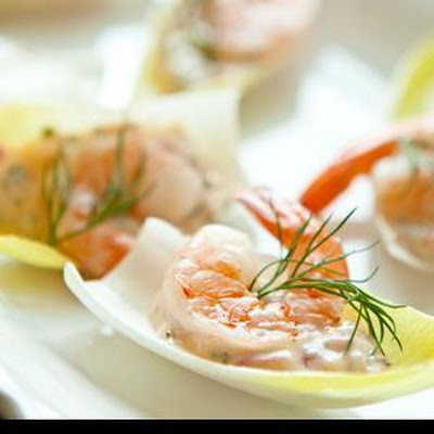 Shrimp Remoulade in Endive Leaves