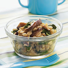 Barley with Shiitakes and Spinach
