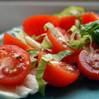 marinated mozzarella cherry tomato and basil salad serious eats cherry ...