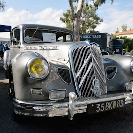 Silver Pichon Parat 1949 by Victor Eliu - Transportation Automobiles ( automobile, silver, oldtimer, transportation, citroen,  )