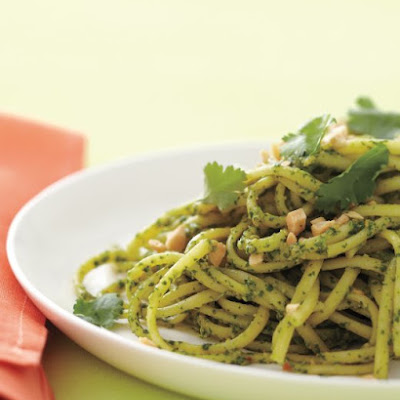 Pasta with Cilantro-Peanut Pesto