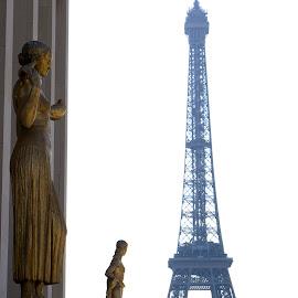 La Ville de L'amour by Jacob Joyner - City,  Street & Park  Skylines ( de, paris, statue, tower, l'amour, la, ville, eiffel, france, gold, tour,  )