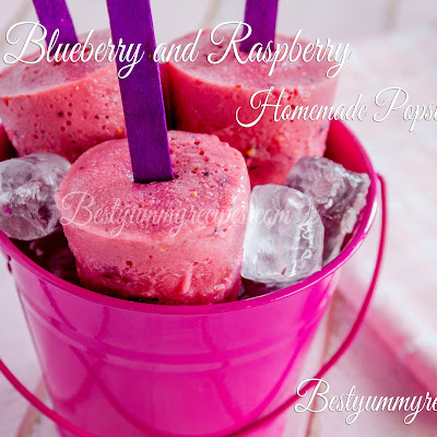 Blueberry and Raspberry Homemade Popsicles