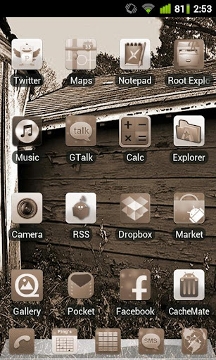 Sepia Theme for GO Launcher EX