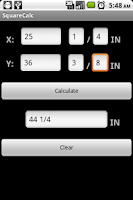 Screenshot of SquareCalc Construction Calc