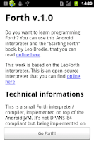 Screenshot of Forth Interpreter