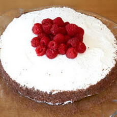 Chocolate Cassis Cake with Raspberries Recipe