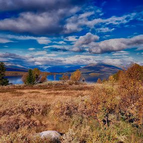 Water and hills by Janne Monsen - Landscapes Mountains & Hills ( vaset, storfjorden, nøsen, oppland, vestre slidre )