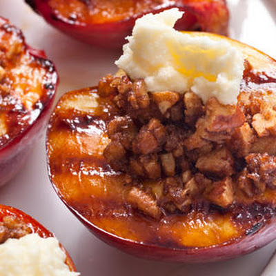 Grilled Nectarine Crumble
