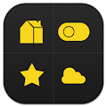 App Dark Yellow Toucher Pro Theme apk for kindle fire