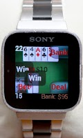 Screenshot of Blackjack for SmartWatch